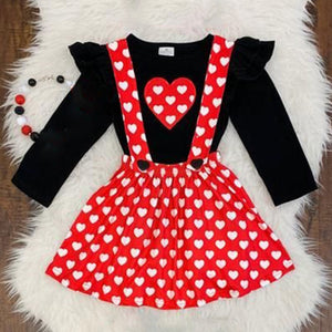 Polka Dot Heart Set
