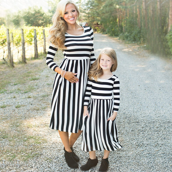 Mommy & Me Striped Dress