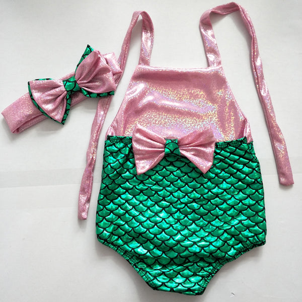 Mermaid Swimsuit w/Headband