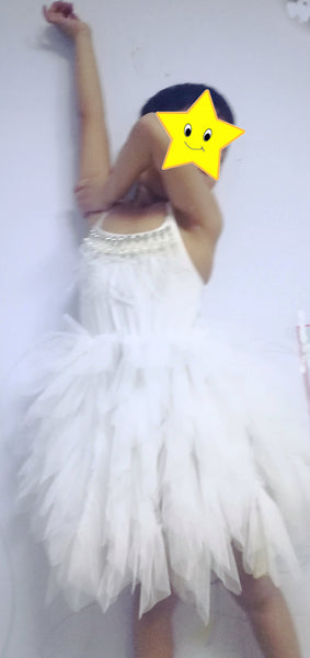 Princess Feather & Pearl Dress