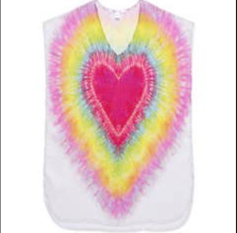 Heart Tie Dye Cover-Up
