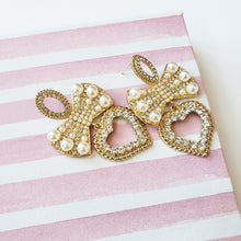 Load image into Gallery viewer, Camilla Gold Bow And Heart Earrings