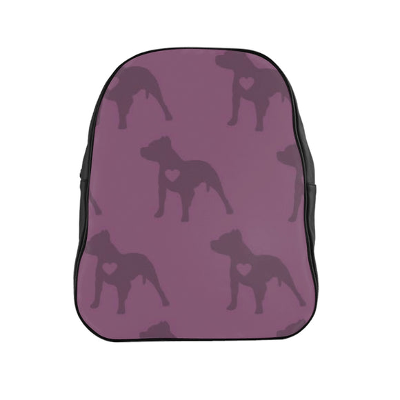 Heart Moma Pup Party (Berry) School Backpack