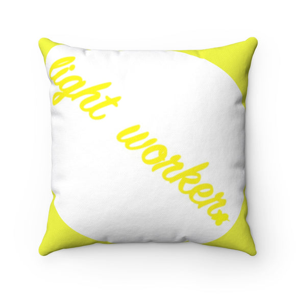Light Worker Breathe MBB Accent Square Pillow