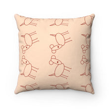 Load image into Gallery viewer, Excited Peach Pup Party Accent Square Pillow