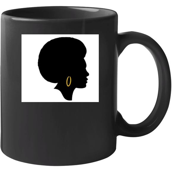 Melanated Sista Gold Drinking Mug