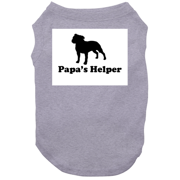 G Papas Helper Big Text Dog