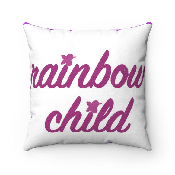 Rainbow Child Breathe MBB Accent Square Pillow