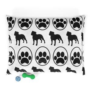 Bully Paw Party Print Moma Pet Bed (White)