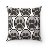 Moma Paw Party Accent Square Pillow