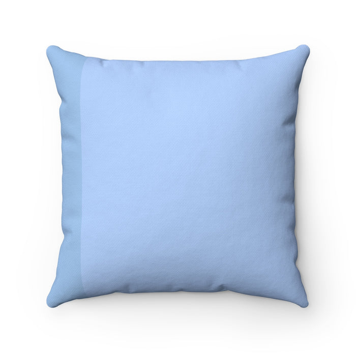 Blue Kitty Cat MBB Accent Square Pillow