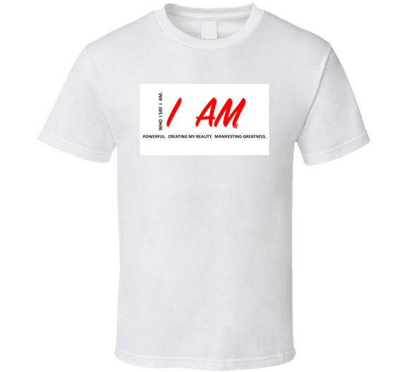 I Am Creator And Manifest Inspirational W&red T Shirt