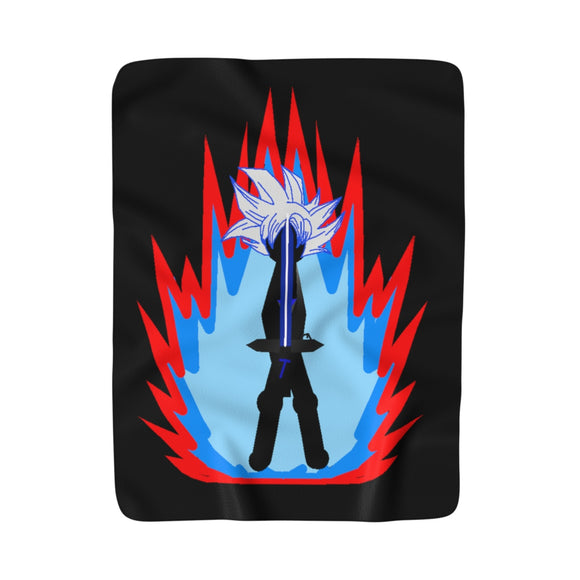Ultra Tai Flame Sherpa Fleece Blanket (Black)