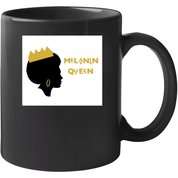 Crowned Melanin Queen Drinking Mug