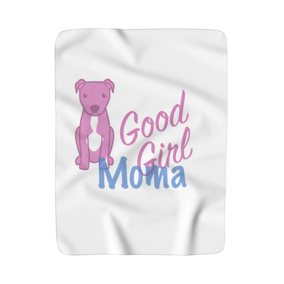 MOMA Good Girl Print Sherpa Fleece Blanket