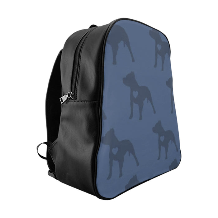 Heart Moma Pup Party (Blueberry) School Backpack