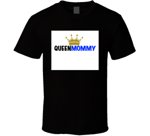 Queen Mommy (blue) Mbbmom Crown T Shirt