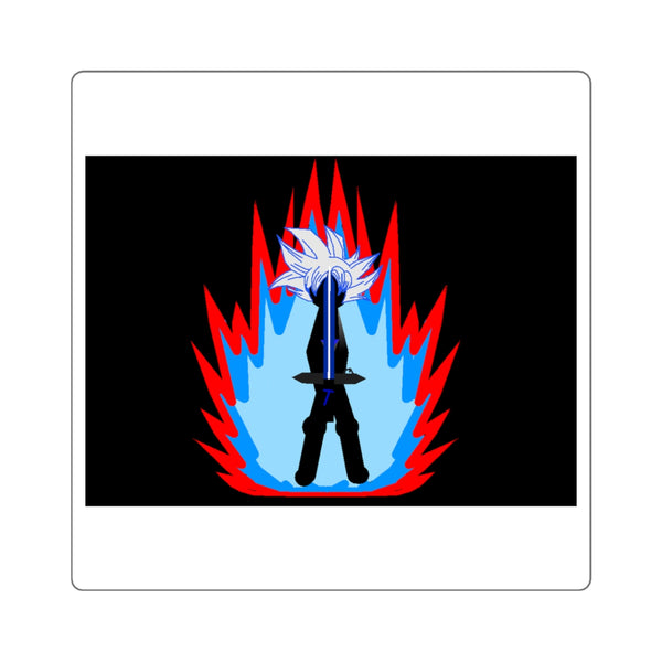 Ultra Tai Flame Aura Square Stickers (Black)