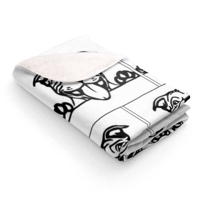 Happy Moma Party Print Sherpa Fleece Blanket