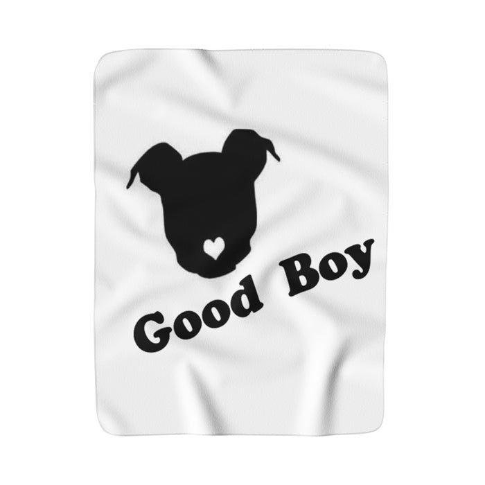 Good Boy Happy Pup Moma Super Sherpa Fleece Blanket