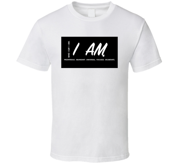 I Am Inspirational Prosperous B&w T Shirt