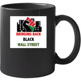 Power And Pride Black Wall Street Drinking Mug
