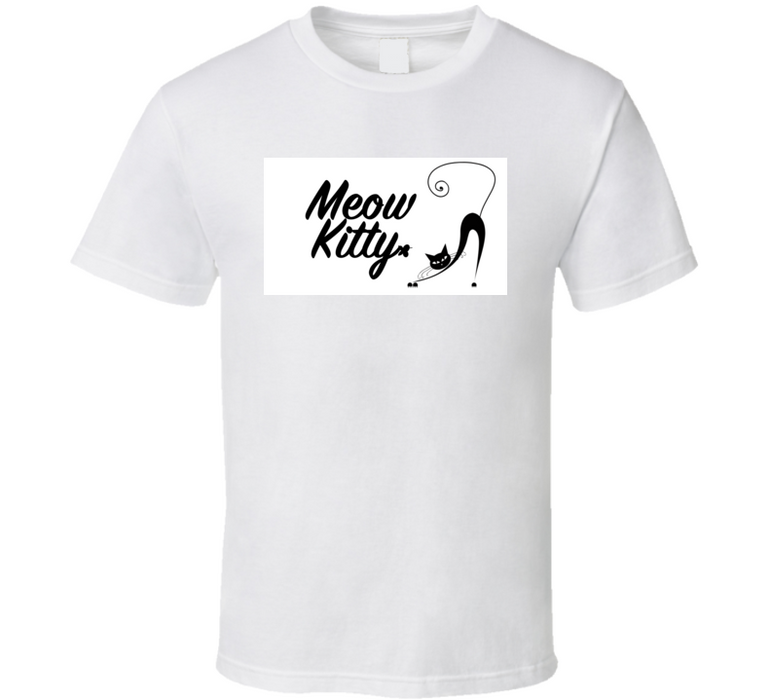 Meow Kitty Cat Tee T Shirt