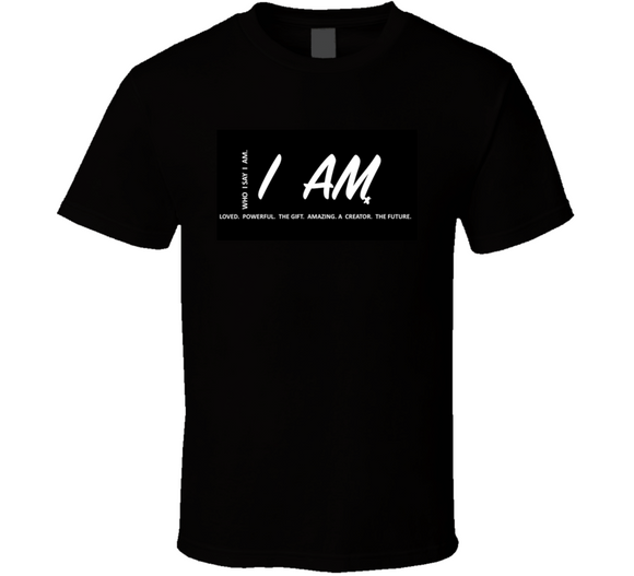 I Am Inspirational Gift B&w T Shirt