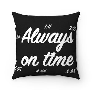 Always on Time Synchronicity Breathe MBB Accent Square Pillow