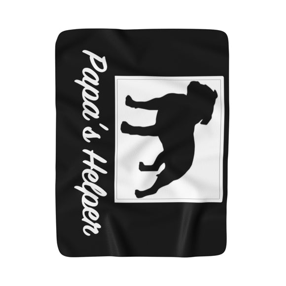 Papa's Helper II Super Moma Sherpa Fleece Blanket