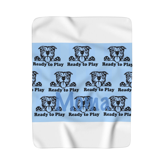 MOMA Ready to Play Print Sherpa Fleece Blanket