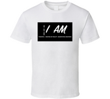 I Am Creator And Manifest Inspirational B&w T Shirt