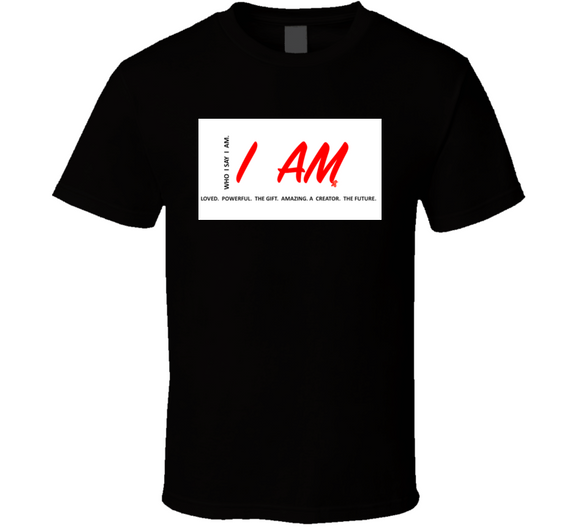 I Am Inspirational Gift W&red T Shirt