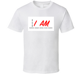 I Am Inspirational Prosperous W&red T Shirt