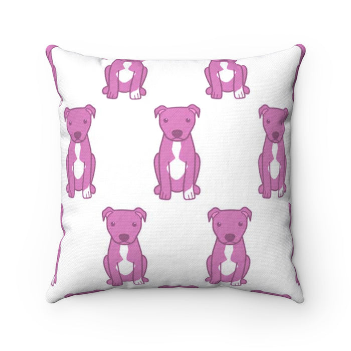 Moma Pink Party Accent Square Pillow