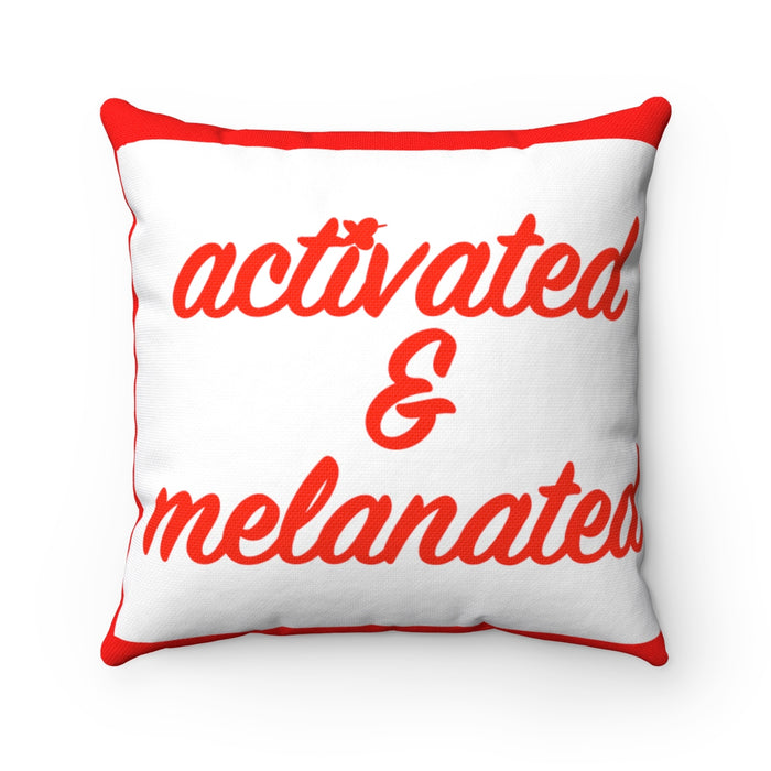 Activated and Melanated Breathe MBB Accent Square Pillow