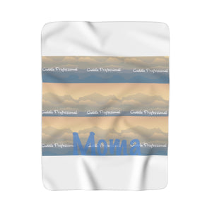 MOMA Cuddle Professional Print Sherpa Fleece Blanket