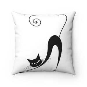 Kitty Cat MBB Accent Square Pillow