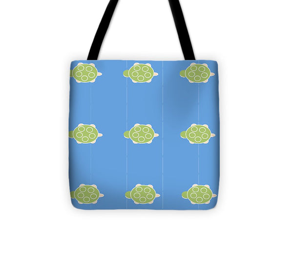 Baby Turtle Flow In Ocean - Tote Bag