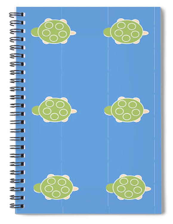 Baby Turtle Flow In Ocean - Spiral Notebook