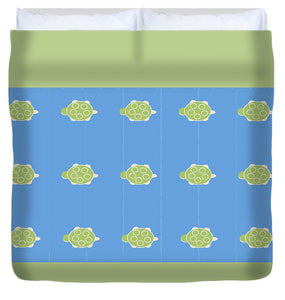 Baby Turtle Flow In Ocean - Duvet Cover
