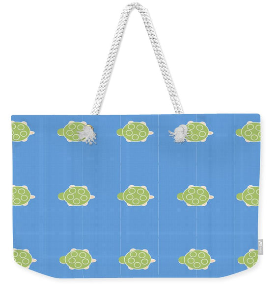 Baby Turtle Flow In Ocean - Weekender Tote Bag