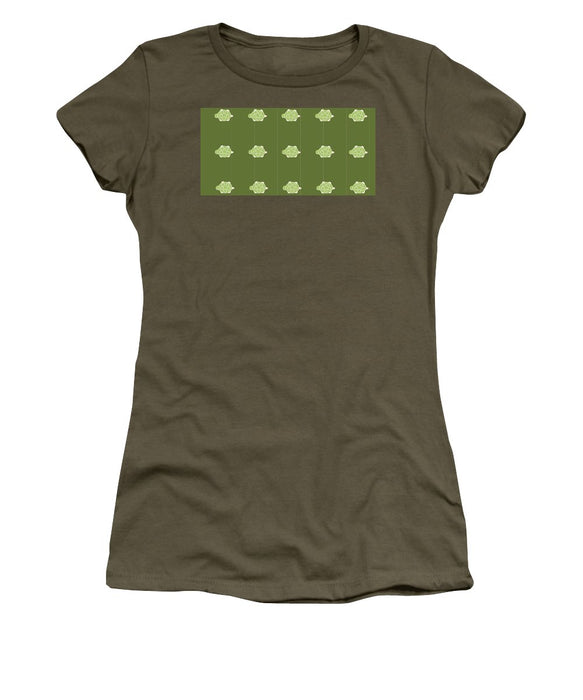 Baby Turtle Flow In Pond - Women's T-Shirt