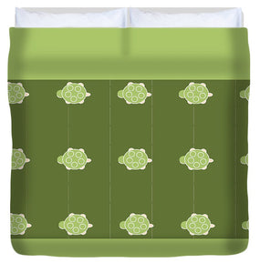 Baby Turtle Flow In Pond - Duvet Cover