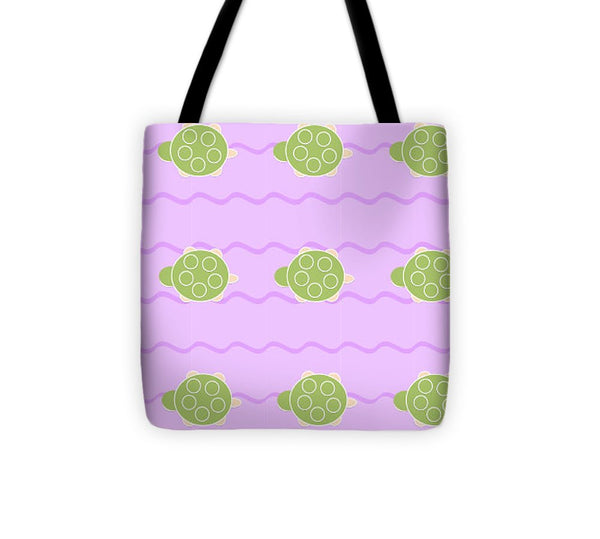 Baby Turtle Flow In Stream - Tote Bag