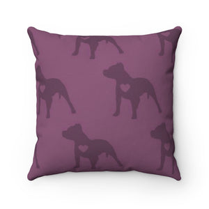 Heart Moma Pup Party Accent Square Pillow