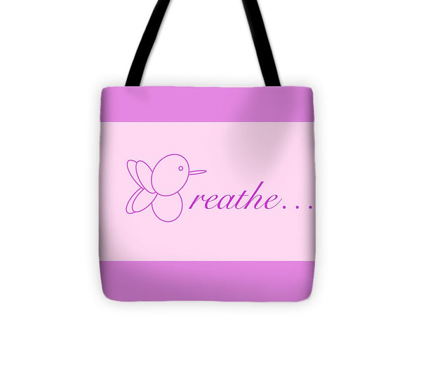 Breathe... In Blush - Tote Bag