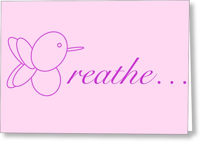 Breathe... In Blush - Greeting Card