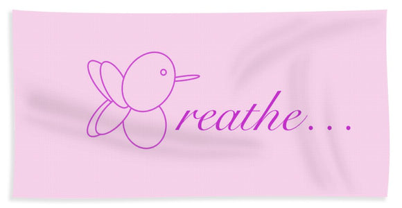 Breathe... In Blush - Beach Towel
