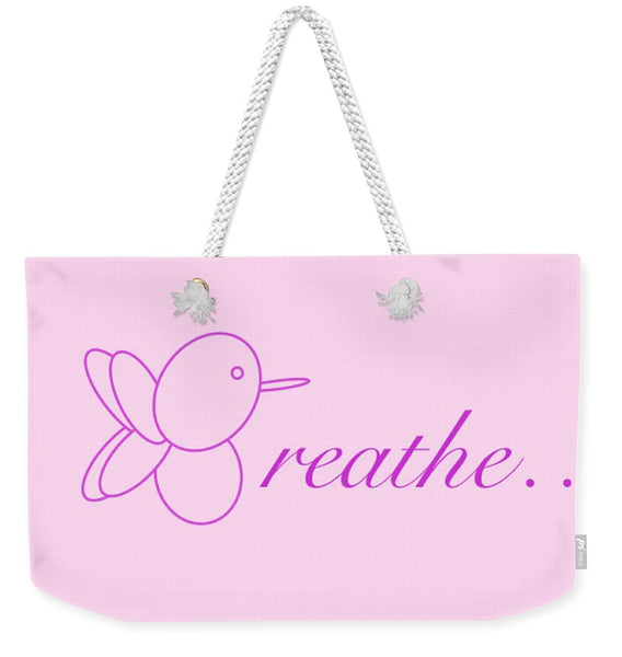 Breathe... In Blush - Weekender Tote Bag